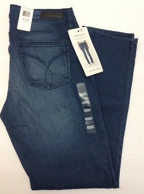 New CALVIN KLEIN Jeans Women's 12x30 Stretch Ultimate Skinny Jeans Rinse