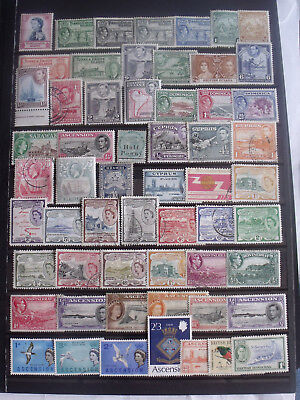 Stock Sheet Full With British Commonwealth Stamps Lot Fresh MM/VFU 001