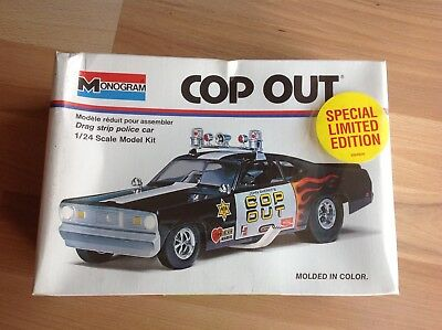 """MONOGRAM,AMT,MPC- 1972 Plymouth Duster""""COP OUT""""Funny Car, M. 1:24, Nr. 7504, OVP"""