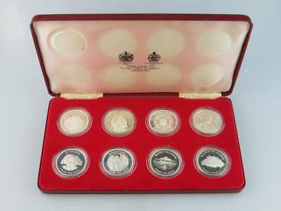 The Quenns Silver Jubilee Set of 8 Solid Silver Proof Coins Spink&Son Ltd 1977