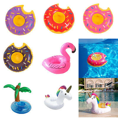Inflatable Floats Drink Cup Seat Holder Summer Swim Water Pool Bath Kids Toy