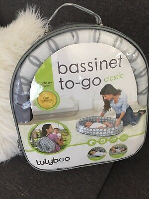 Lulyboo Bassinet To Go Classic Brand New Travel Crib Baby Bed Lounge Gray
