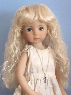 "Doll wig for Little Darling doll 13"" Dianna Effner-7/8""(18/19cm)-pale blonde"