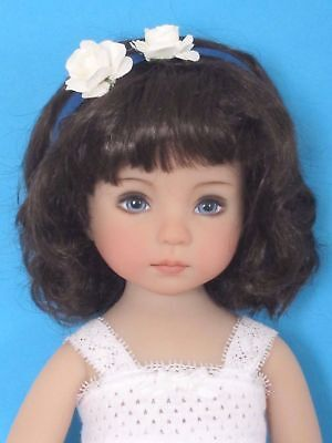 "Doll wig for Little Darling doll 13"" Dianna Effner-Head sz7/8""(18/19cm)-FRANCE"