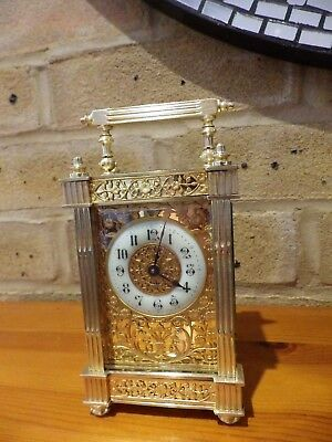 French carriage Clock Ultra Rare Case Style Fully Restored Simply Stunning 1890