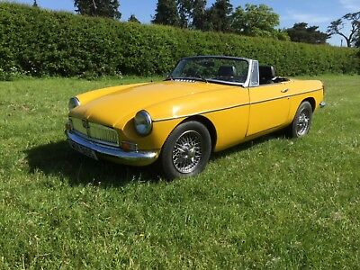 1978 MGB roadster - chrome bumper with overdrive px VW T2 campervan