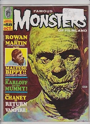 Famous Monsters of Filmland  58    F/VF