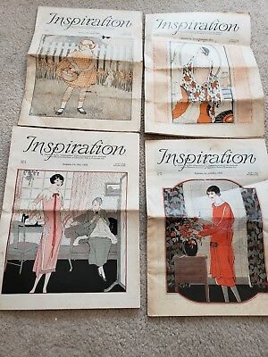 Lot of 4 1920's Inspiration Magazine Woman's Institute Vintage Fashion Millinery