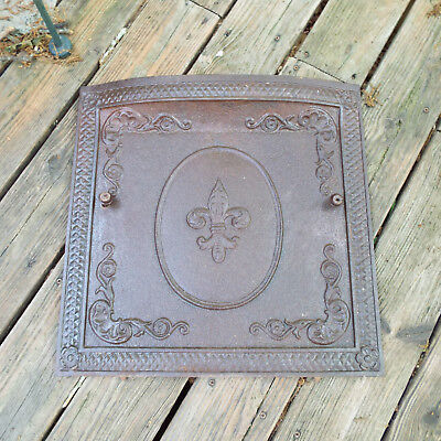 Fireplace Summer Cover Cast Iron Fancy