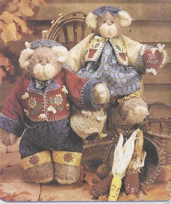 PATTERN-ADORABLE LITTLE BEARS-FABULOUS OUTFITS-CHECK THESE OUT! McCALL'S 8507