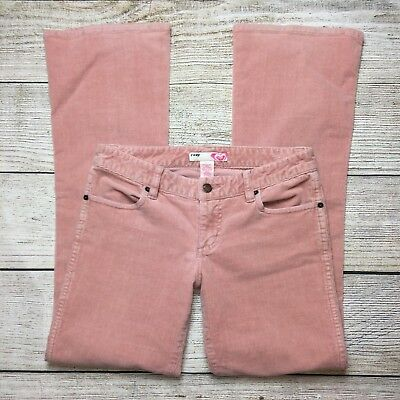 Roxy Corduroy Pants Size 5 Juniors Pink Cords Jeans Boot Cut Stretch