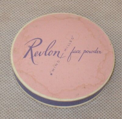 Vtg. 1940s Cosmetic Revlon Wind Milled Face Powder Sample Pink Lighting Unused