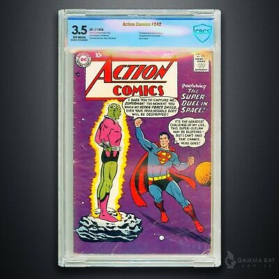 Action Comics #242 (Jul 1958, DC) – First Appearance of Brainiac