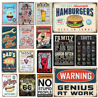 Retro Metal Tin Sign Poster Plaque Bar Pub Club Wall Home Decor Y0298