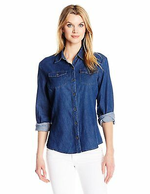 dbcc598013f RIDERS BY LEE Indigo Women s Denim Long Sleeve Woven Shirt - Choose  SZ Color -  27.07
