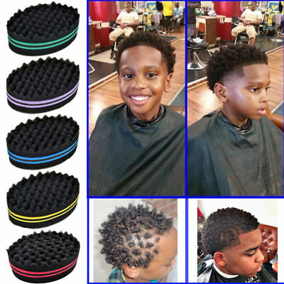 NEW Double Barber Hair Brush Sponge For Dreads Locking Twist Coil Afro Curl Wave