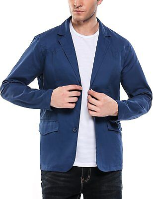 COOFANDY Men's Casual Slim Fit Suit Jacket Lightweight Cotton Blazer