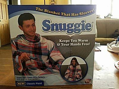 Snuggie new in box  Red and Blue Plaid