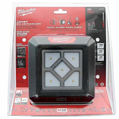 New Milwaukee 2364-20 M12 Rover 12V Lithium Ion 250W LED Compact Flood Light