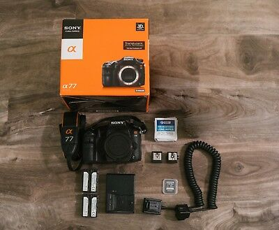 Sony Alpha A77 24.3MP Camera body - Bonus Extras + Hot Shoe Adapter Digital SLR