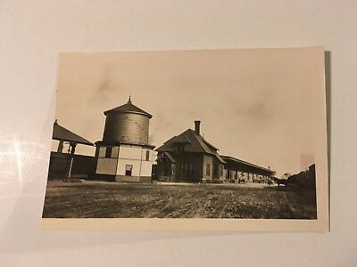 Vintage photo Boston & Maine Railroad freight house Concord NH