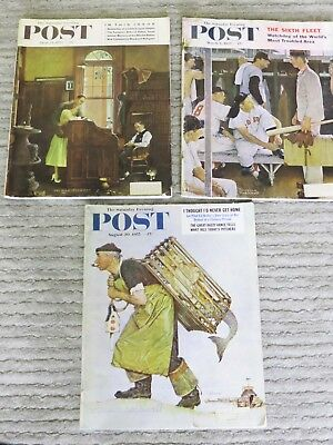 old Norman Rockwell Post Magzines