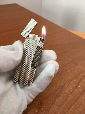 Dunhill Lighter Rollagas Silver Plated - Accendino Briquet Feuerzeug