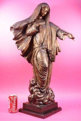 100% Handcrafted Detailed Virgin Mary Bronze Sculpture Hot Cast Figurine Figure
