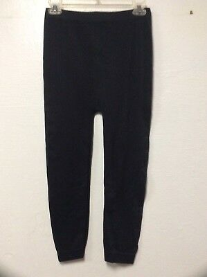 Womens Maternity Leggings Size M Black Elastic Cuffs New Recruit 198