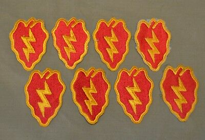 WWII Patch Lot of 8 Patches 25th Infantry Division Tropic Thunder Chili Peppers