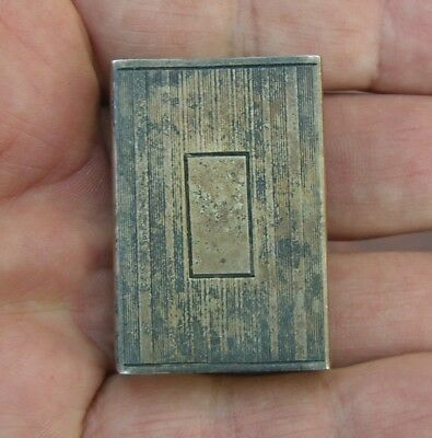 Unknown US Manufacturer 1920's Sterling Silver Match Box Cover Holder
