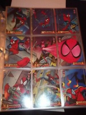 1994 AMAZING SPIDERMAN MASTER SET~Base, Holograms, Gold Web, Suspended Animation