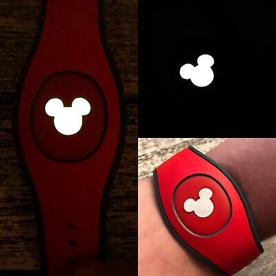 Disney Magic Band 2.0 Decal Skin Sticker Set of 5 Mickey Head GLOW IN DARK