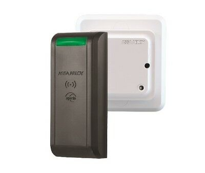 Assa Abloy Aperio AS-R100MBK Surface Mount Reader Wireless; iClass and Mifare