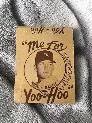 50s Yoo Hoo Mickey Mantle Matchbook Matches Yankees Chocolate Milk Vintage 1950s