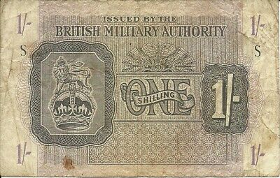 UK Great Britain    1 Shilling  1943 P-#M-2    British Armed Forces BAF