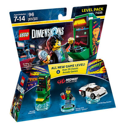 Warner Bros DIMENSIONS Level-Paket Midway Arcade - 71235 Building Toys Mehrfa...