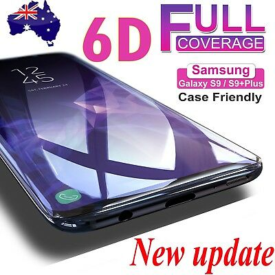 6D Samsung Galaxy S9 S8 Plus Note 8 Full Cover Tempered Glass Screen Protector