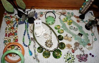 """VINTAGE Mixed Lot Of Jewelry """"SPRINGTIME""""  ~Murano, Filigree, 30's Pearl Guard~"""