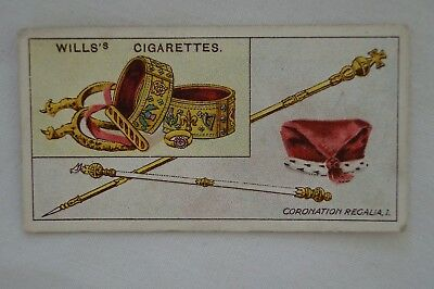 Vintage - 1911 - Wills Coronation Series Card - Coronation Regalia # 1.