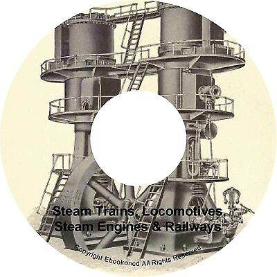 Steam Trains Engine Locomotives Railways Railroad History Construction Books CD