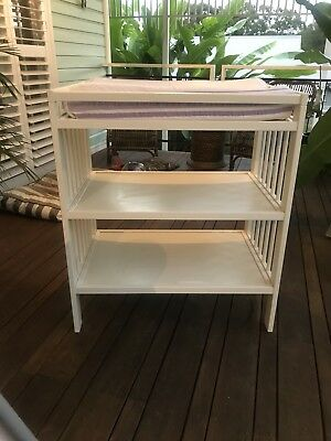 ikea change table guliver white cushion top with two covers pick up Byron bay