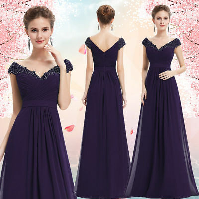 US Long Wedding Bridesmaid Dresses Formal Party Ball Gown Prom Evening 08633