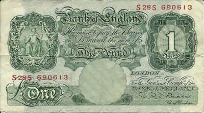 UK Great Britain   1 Pound N.D. (1949); F; P-369b; Beale