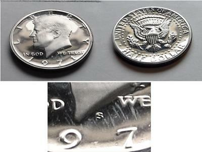 Proof 1971 S Clad Kennedy Half Dollar   Brilliant Coin