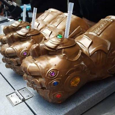 US! Avengers 4 Endgame Thanos Infinity Gauntlet Cup Funny Cup Fans Cosplay Prop