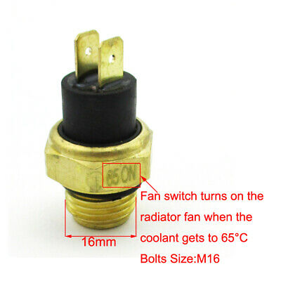 M16 ATV Radiator Thermal Cooling Fan Switch For 250cc Water Cooled Quad 4 Wheele