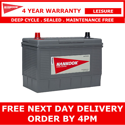Hankook 100Ah Deep Cycle Leisure Battery DC31S 12V - 4 Year Warranty