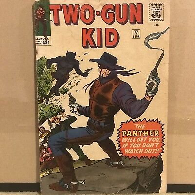 "Two-Gun Kid/Black Panther #77 Marvel Comics Sep 1965 ""The Panther Will Get You"""