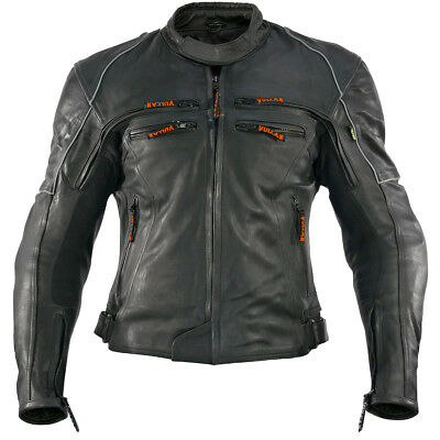 Vulcan Men's VNE-98431 Armored Jacket Premium Quality Cowhide Leather